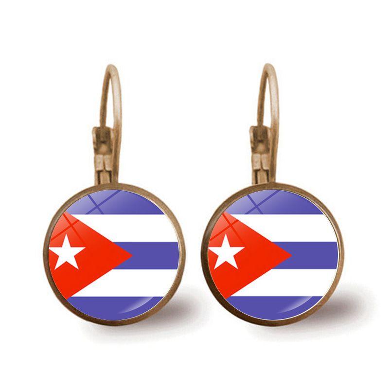 Puerto Rico Puerto Rican Flag-Band-Ohrringe Frauen Männer Mode Ohrring Schmuck Aretes A023