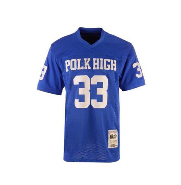Mari/é avec enfants AL Bundy Polk haute 33/pour maillot de football bleu