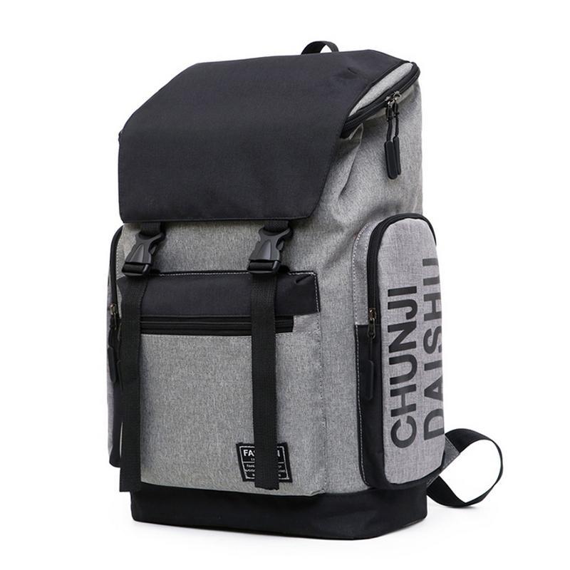 Erkek Genç Seyahat Sırt Çantası Büyük Kapasiteli Genç Öğrenci Bagpack Oxford Katı Preppy Stil backbag için Erkekler Sırt Çantası Okul Çantaları