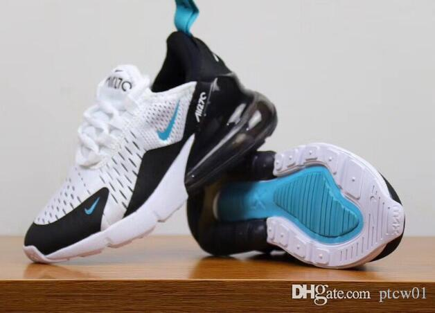 2019 Nike Air MaX 270 Youth Running Shoes Kid Sneakers Air 27c Run Sports Shoe Classic 270 Trainer Air Cushion Surface Size 28 35 From Ptcw01, $70.36