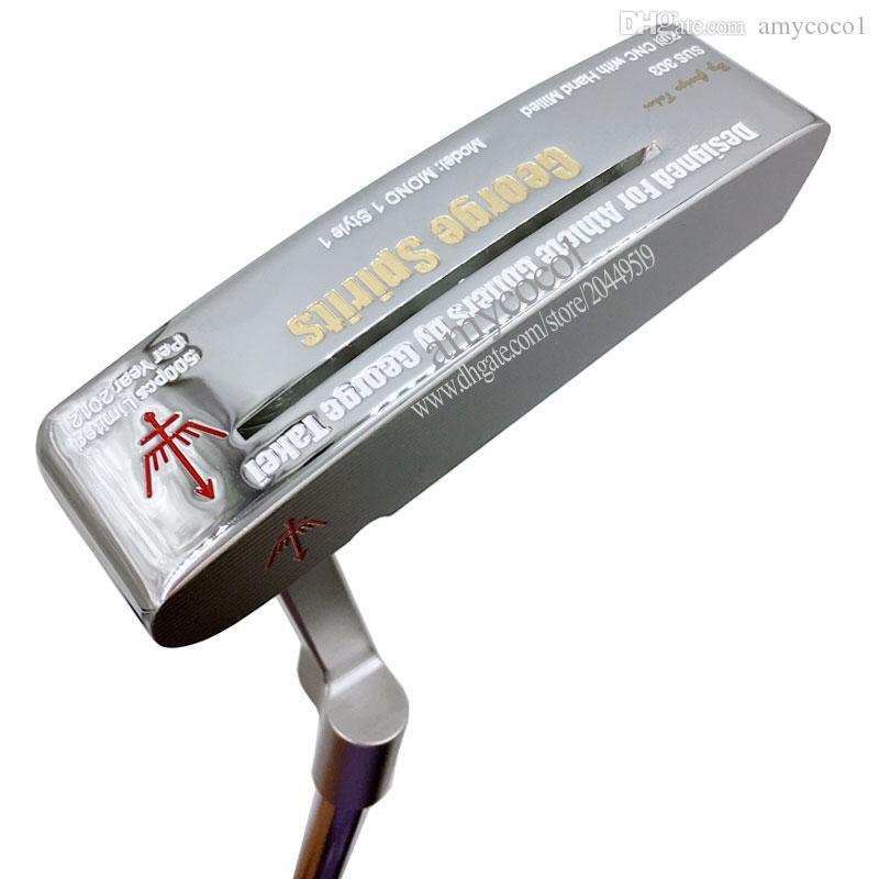 Nuovi uomini di golf ClubsGeorge Spirits SUS 303 Golf Putter 35 o albero Club in acciaio da 35 pollici con il trasporto Putter Grip libero