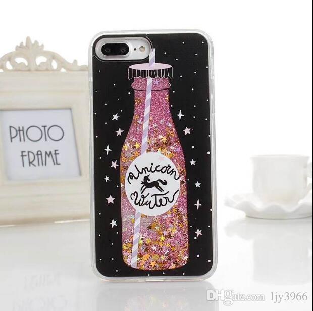 Teléfono celular y cálido verano Accesorios diseño del helado de TPU caja del teléfono de la serie del parpadeo de la cubierta para el iPhone de 8 X para el teléfono móvil Samsung
