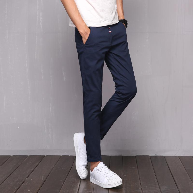 nova versão 2019 do verão casuais calças multi-cor dos homens de forma magro alta qualidade dos homens dos selvagens nove calças BC825