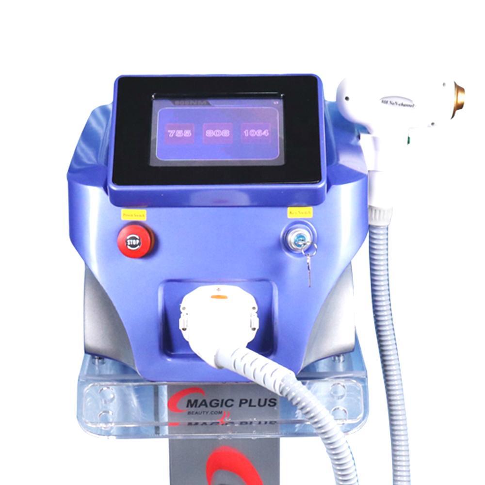 3 Comprimento de onda 755 808 1064 Cabelo Laser dispositivo de remoção 808nm diodo Laser Hair Removal máquina Redução Pêlos faciais Para Salon Use