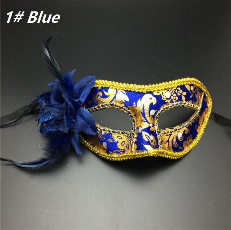 royal blue and gold mask
