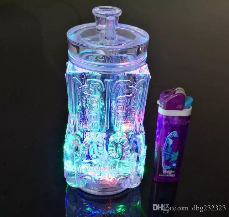 Pagoda de vidrio bongs pipa de agua accesorios no contienen la electrónica, vidrio pipas de fumar de colores las mini multi-colores de mano Tubos glas Mejor Cuchara