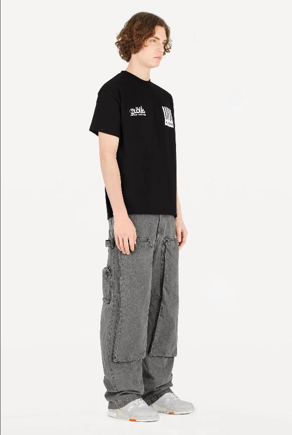 Mens T Shirt di lusso Designer shirt modo di alta qualità di modo di marca donne degli uomini Street Style casuale Hip Hop manica corta Tees # S21