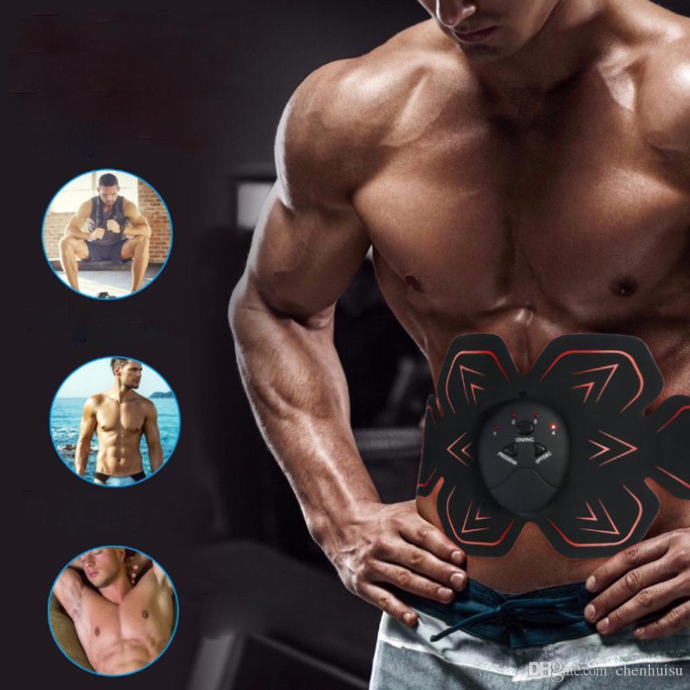 La pérdida del músculo abdominal de la aptitud estimulador inteligente Brazo Entrenamiento con pesas eléctrica de cuerpo Delgado Cinturón ABS estimulador de masaje Equipo unisex