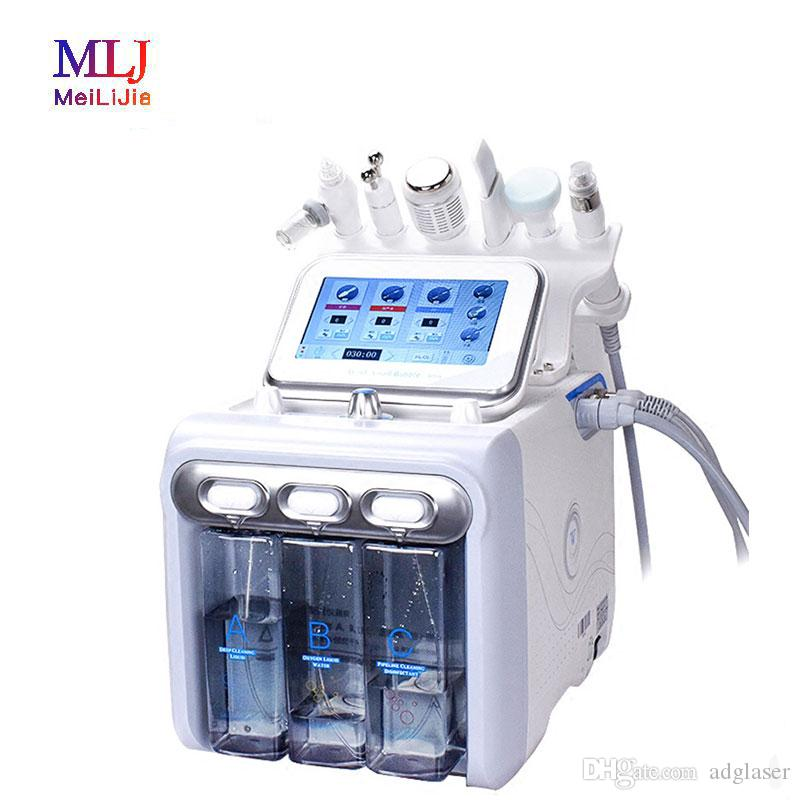 6 in 1 hydrafacial Diamond Dermabrasion facial machine Water Oxygen Care Scrubber Facial Deep Cleansing RF Face Lifting Beauty machine