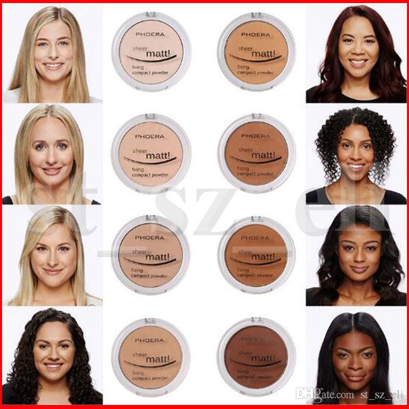 PHOERA 8 Colors Makeup Face Powder Oil Control Lasting Concealer Matte Contour Powder Foundation Blush Rouge