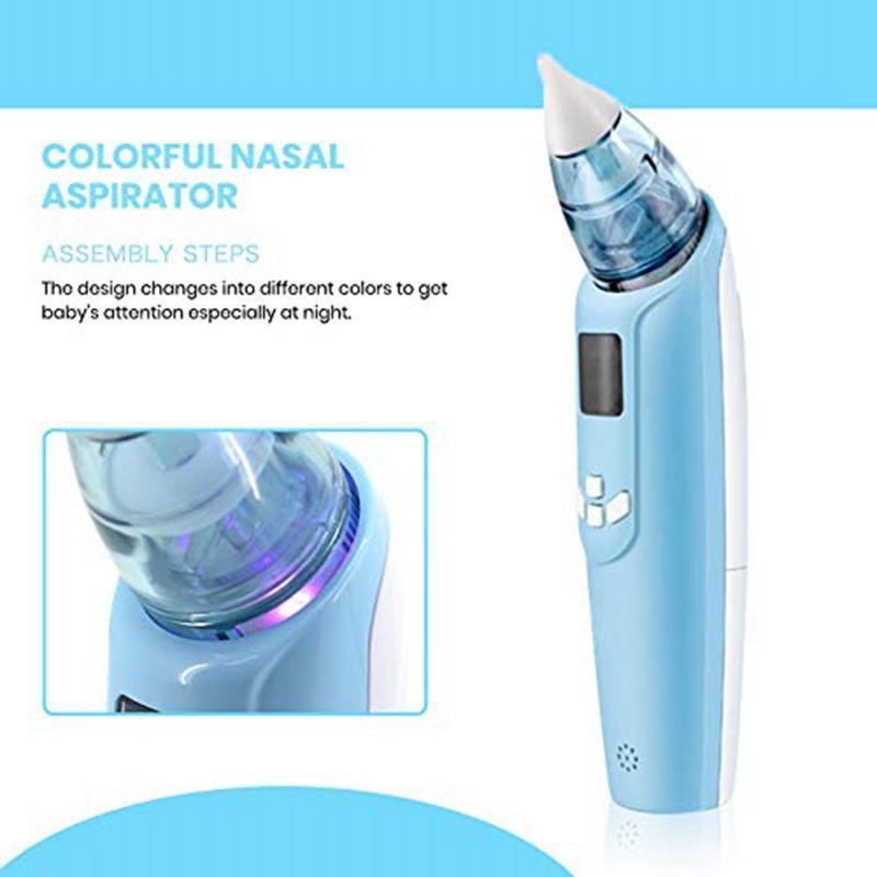Électrique bébé Nasal aspiration appareil - Batterie Exploité Nettoyeur nez et nez Ventouse - Paramètres ajustables et conseils réutilisables