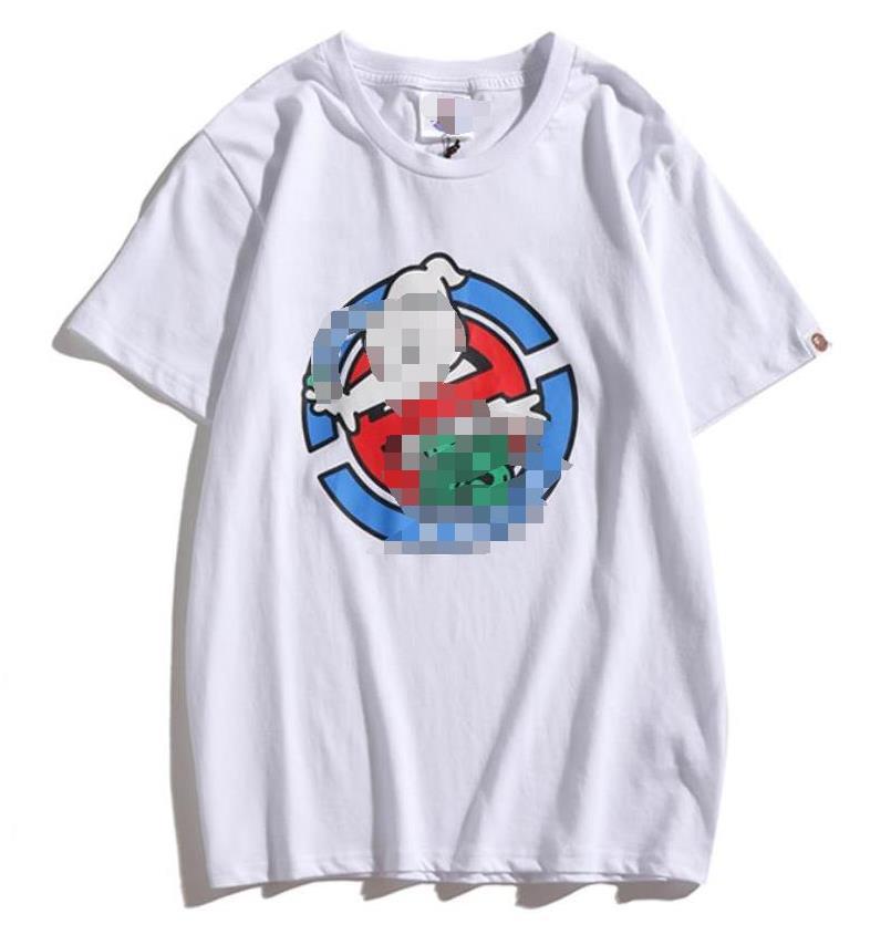 Luxo Mens Shirts Verão DesignerLuxury Mens Branded T-shirt de manga curta Padrão Mulheres Top Tees Hip Hop Moda Streetwear 2021504Q