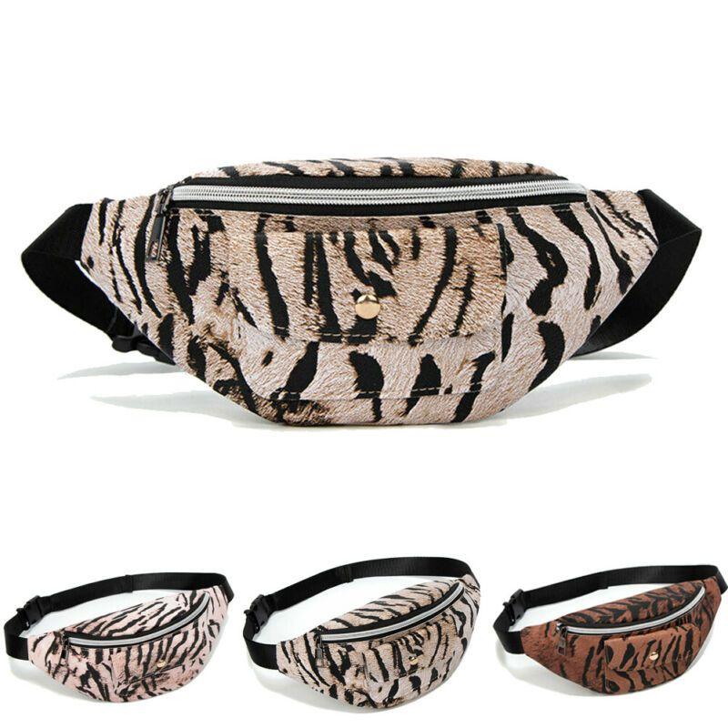 Adatti a nuovo delle signore delle donne leopardo marsupio sacchetto della cassa del ventre Bum Bag Zipper regolabile Casual Fashion Grande