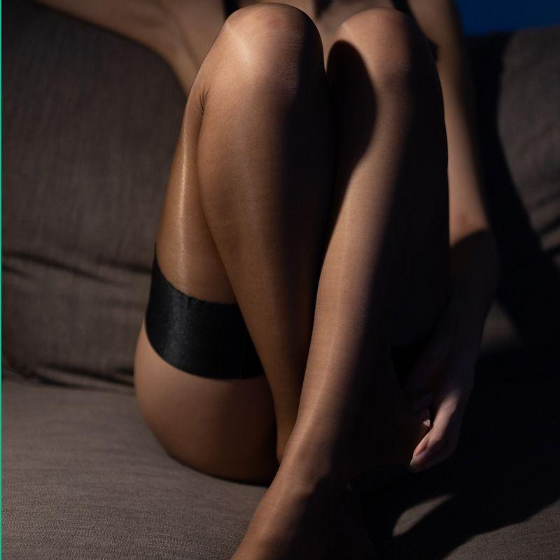 Goddess elegant silicone silk and sexy nylon wide edge anti-slip silicone strip wind stockings silk stockings