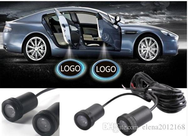 2 PC LED 자동차 도어 램프 환영 로고 프로젝션 빛 BMW Toyota Honda Nissan 현대 기아 폭스 바겐 아우디 포드 지프