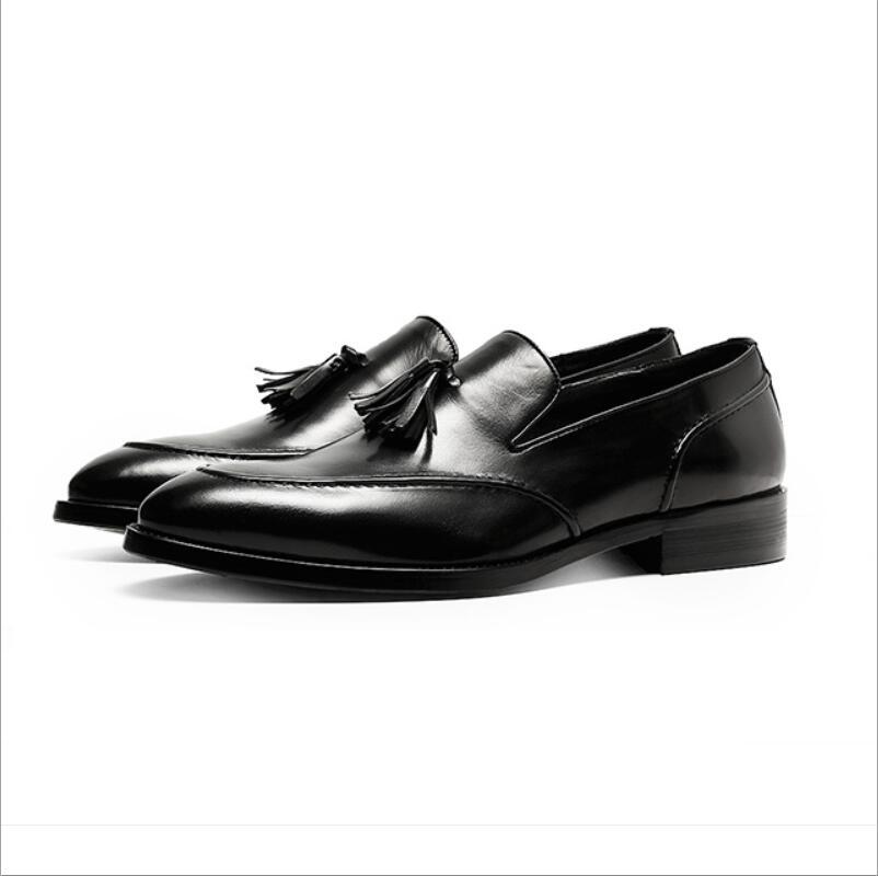 Mode chaussures plates en cuir Top couche, chaussures pour hommes, haut de gamme à la main en cuir imprimé, chaussures de mariage de marche à la mode