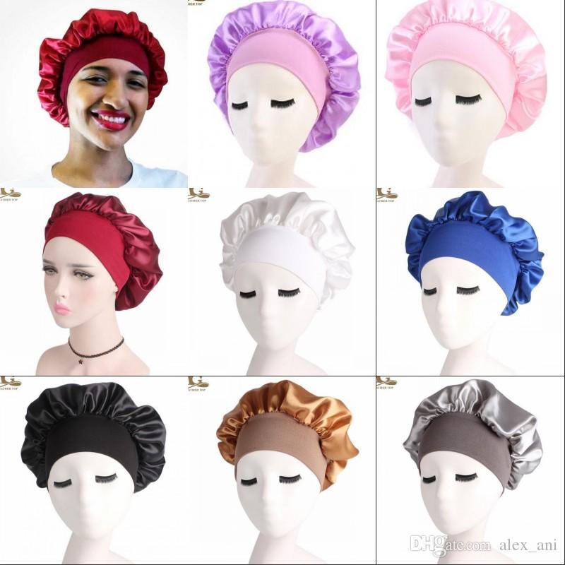 NEW Donna Bonnet chemo cap designer Durag berretti durags Musulmano Satin traspirante Bandana Turbante Sleeping Hat womens headwrap Accessori per capelli