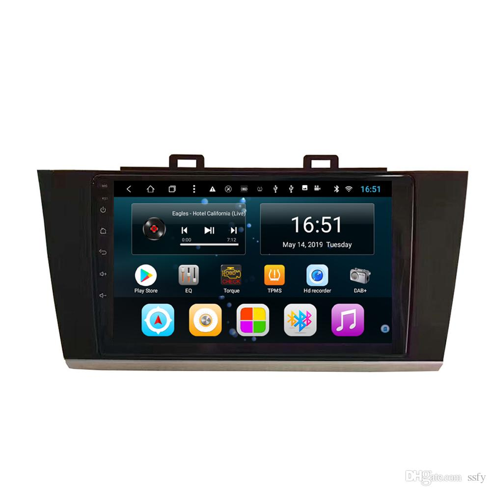 Android car player with radio AM FM precise GPS navigation Resolution HD 1024 * 600 front camera for Subaru outback legacy 2018 9inch