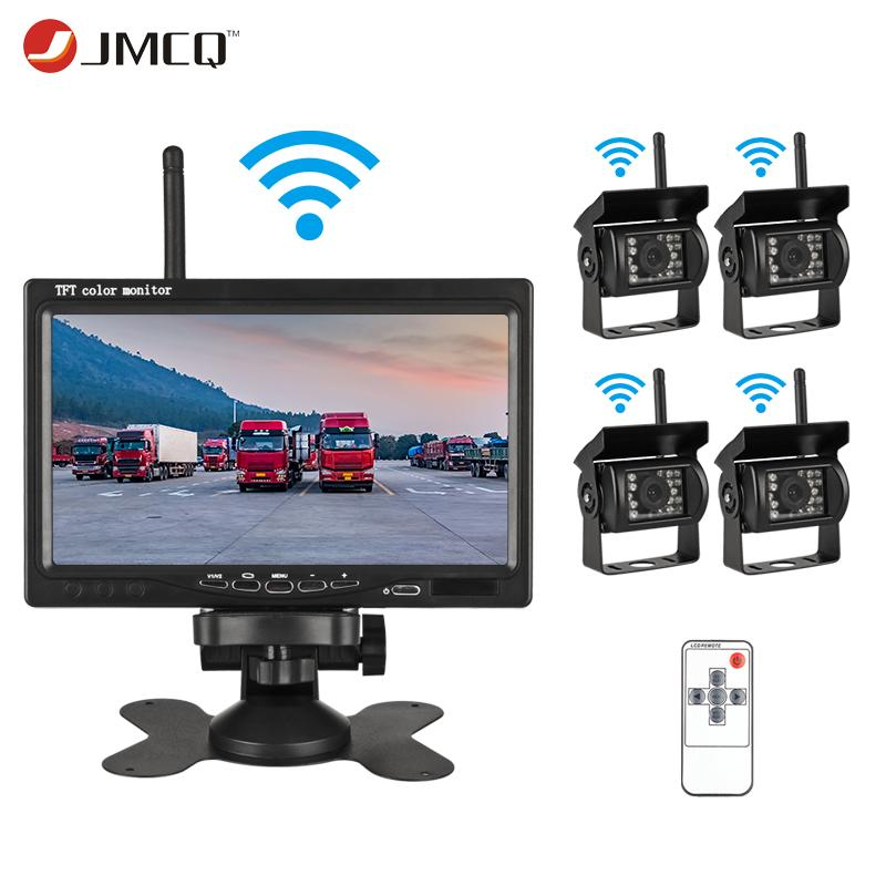 """JMCQ 7"""" TFT LCD Wireless Car Monitor HD Display Reverse Camera Remote control Parking System For Car Rearview Monitors For truck"""