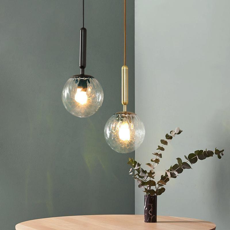 الشمال الفاخرة غرفة المعيشة قلادة مصباح مصمم شخصية خلاقة فيلا مطعم مقهى بار الزجاج أضواء LED الكرة قلادة
