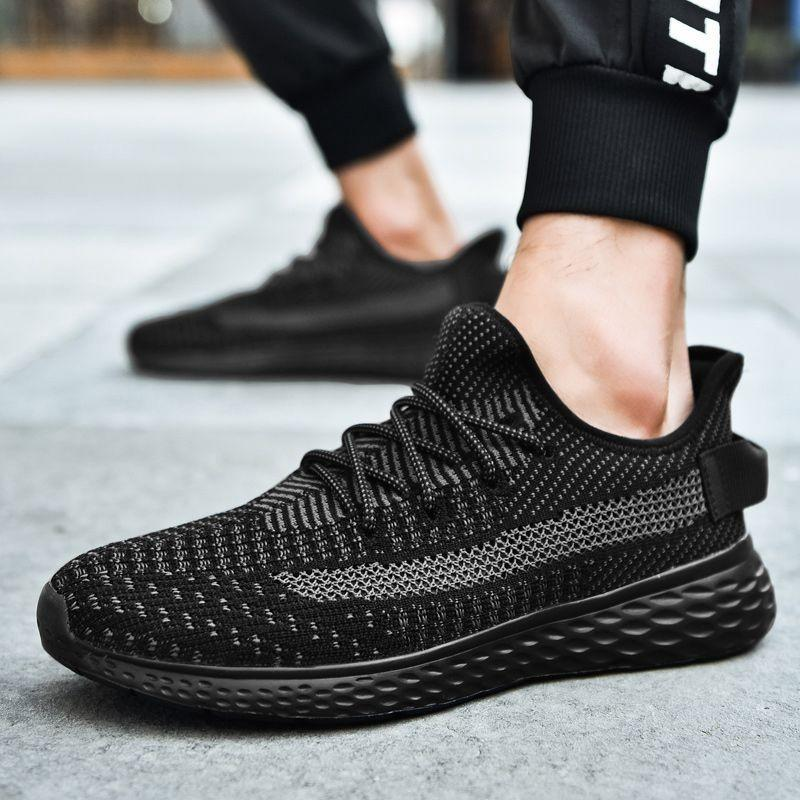 Мужские кроссовки Ультра легкие кроссовки Человек Черный Non скольжения Открытый Спортивная обувь дышащая обувь Mesh кроссовок