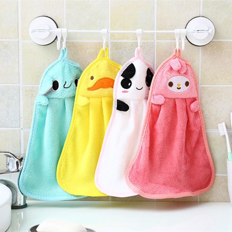 طفل لينة أفخم حمام منشفة طفل الحضانة منشفة اليد الكرتون الحيوان مسح شنقا الاستحمام منشفة للأطفال الحمام بالجملة