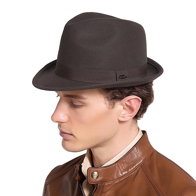 Sedancasesa New England Style Christmas Fedora Jazz Hat Мужчины Женщины 100% шерсть женский мужской Trilby Cap шляпы с лентой FM026082 T200508