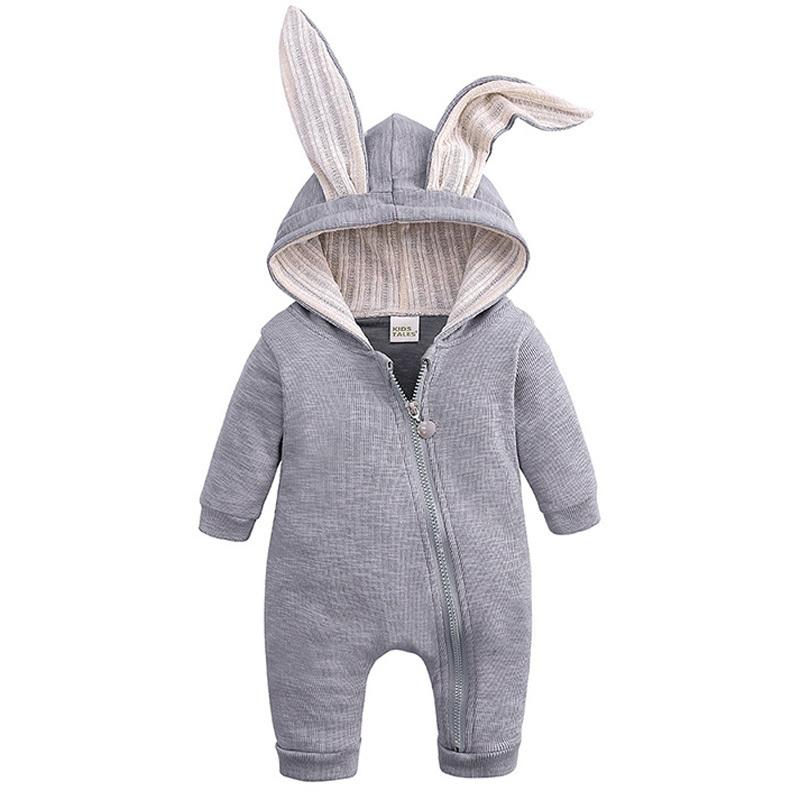 Newborn Baby Girl Boy Knitted Sweater Rabbit Romper Jumpsuit Outfits 0-18 Months