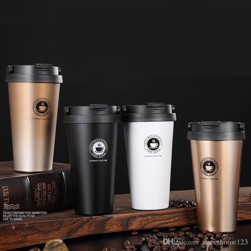 Tazze di viaggio dell'ambientatore della tazza di caffè dell'acciaio inossidabile di doppia parete di logo 17oz su ordinazione tazze di viaggio dell'aspiratore 11 colori
