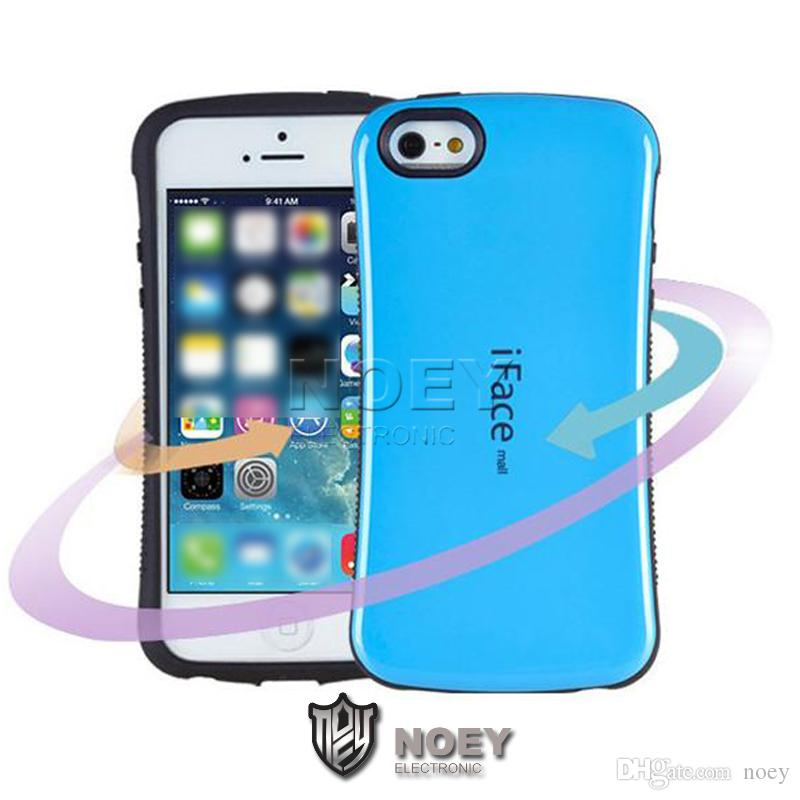 iFace mall Small Waist Case 360 Degree Hybrid Shockproof Cover Protector for iPhone 6 6s 6plus 5 5s Samsung S7 S6 Edge S5
