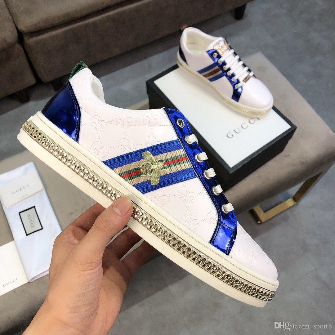 2019 F6 Hochwertige Luxus-Mode-Freizeitschuhe Sport Männer reisen flache Schuhe der Männer original box schnelle Lieferung Zapatos Hombre Verpackung