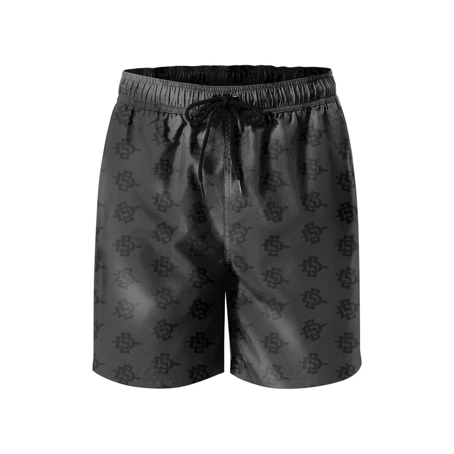 Vintage Flowers and Skull Board Short Quick Dry Swim Trunks 3D Printed Non-Fading Tropical Short