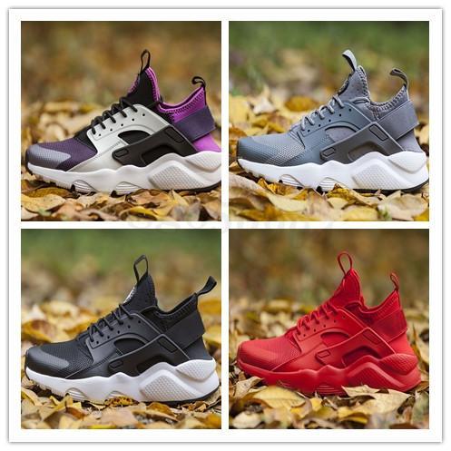 Nike Air Huarache Run Ultra 4 ejecute mujeres de ultra-zapatos para correr triples negros rojo, amarillo, trainer zapatillas de deporte respirables aire libre del tamaño 36-45 SZ03