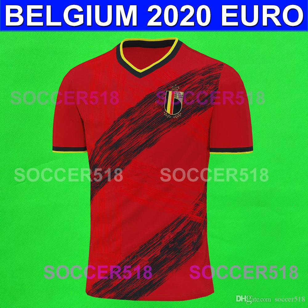 BATSHUAYI ОпАСНОСТЬ 2020 EURO Бельгия домой красного футбол трикотажных изделий TIELEMANS Castagne Шадлите maillots футбольной Тенниска Camiseta де fútbol Лукаку
