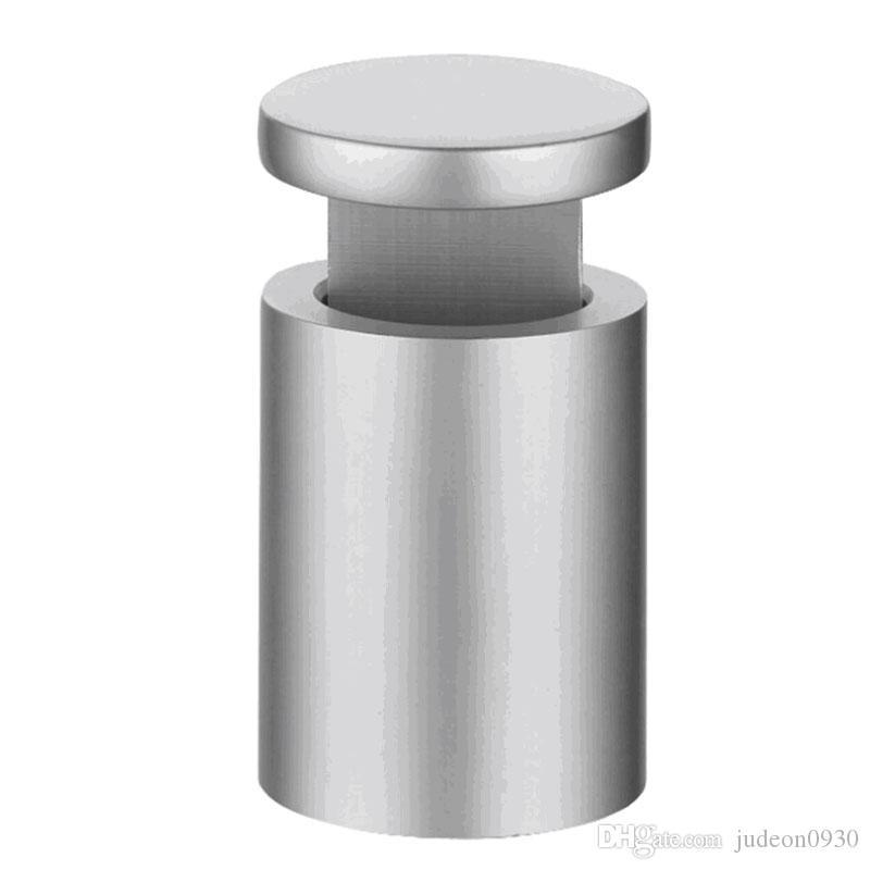 (Упаковка / 10 шт.) D16xH19mm Алюминиевый сплав Кромки Зажимы Зажимы Знак Подставки для стеклянных, деревянных или металлических панелей C-1619A-ST