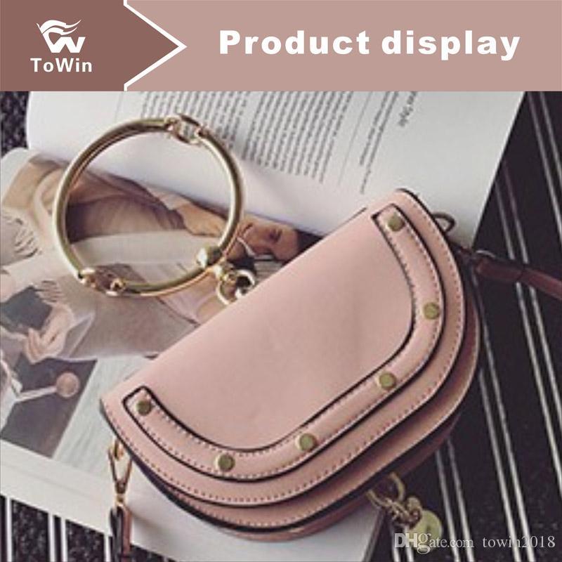 New Women Designer Handbags Metal Ring Crossbody Bag Classic Fashion Shoulder Bags Women Bag Lady Totes Handbag Boston Bags Purse Wallet