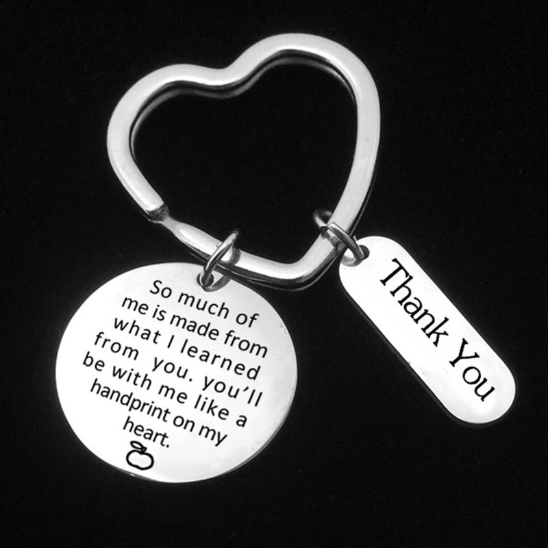 3Pcs Different Teacher Appreciation Gift Top Stainless Steel Keychain Set for Teachers Thank You Birthday Christmas Gifts BV789