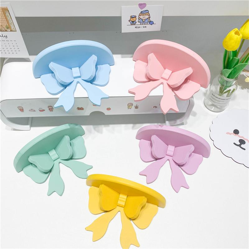 1PC Wooden Bow Shelf Storage Rack For Household Baby Children Room Decoration Organizer Holder Wall Bows Shelves 20*12*8.5cm