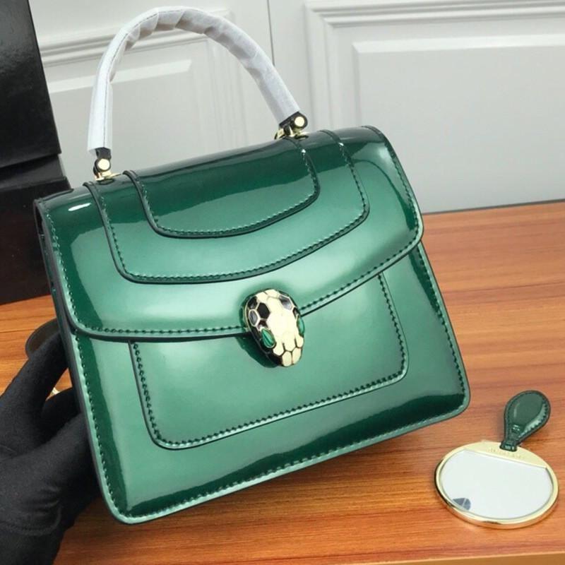 Tamaño 21.5-20-8cm Crossbody bolso de calidad superior del nuevo mujeres Crossbody serpiente verde malaquita Ojos de lujo del diseñador del bolso de las mujeres con la caja