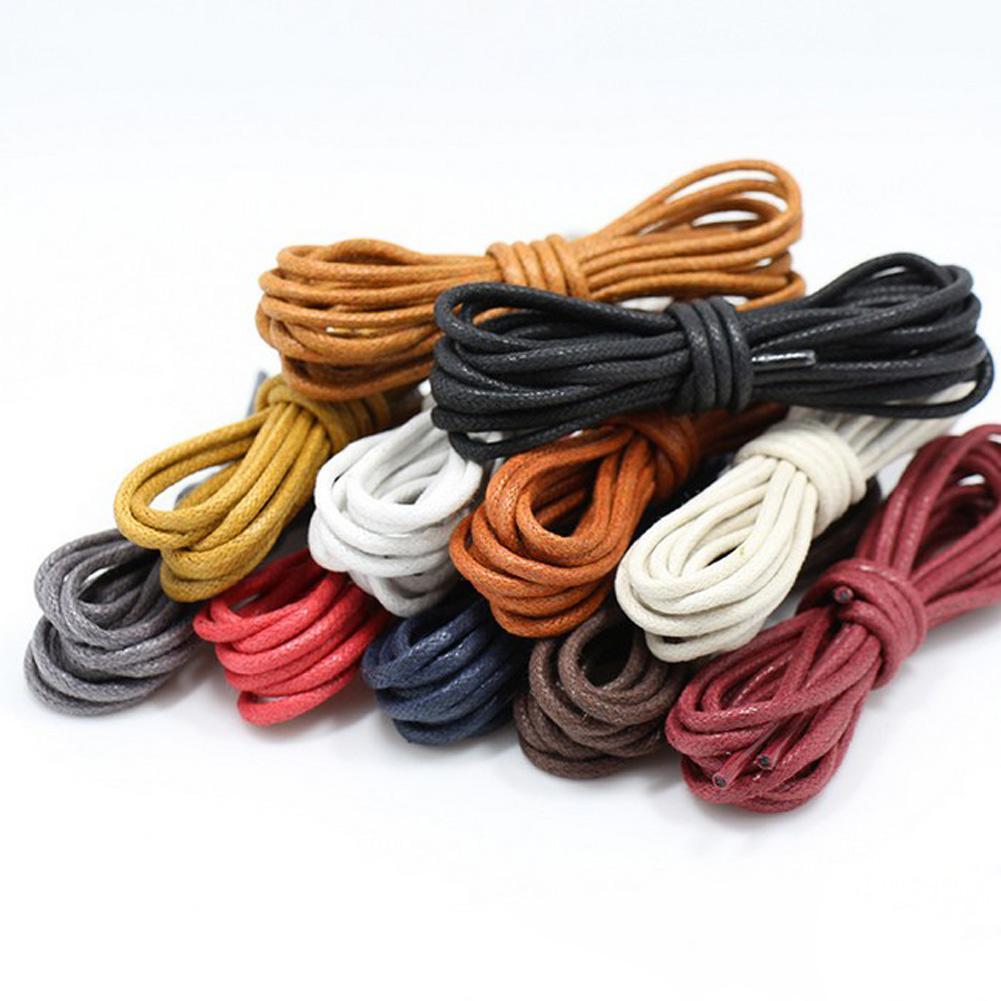 cordones de los zapatos redondos de color encerado cordones para los zapatos de cuero Cordones Redonda Cuerdas Martin botas de deporte Zapatos Cuerdas cable 8 Colores
