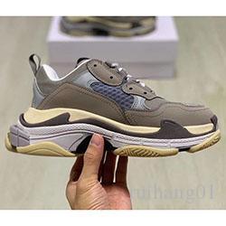 2020 moda di Parigi scarpe scarpe casual di lusso 19FW Triple-S papà per uomini del progettista Donne Beige Nero Ceahp Sport Triple S Shoes C013