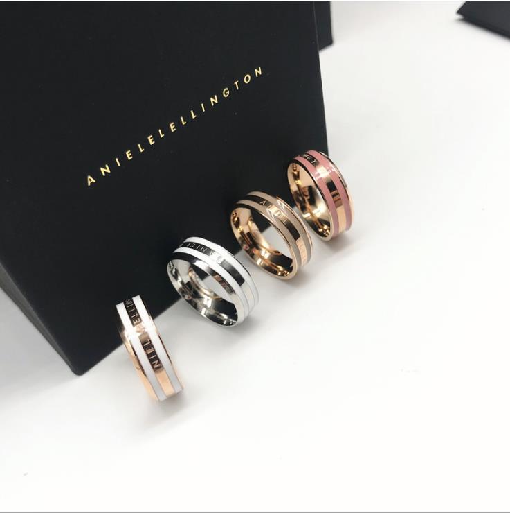 Ring weiblichen Titan Stahl breite Mode-Ring männlichen Paar Ring europäische und amerikanische Edelstahl-Schmuck
