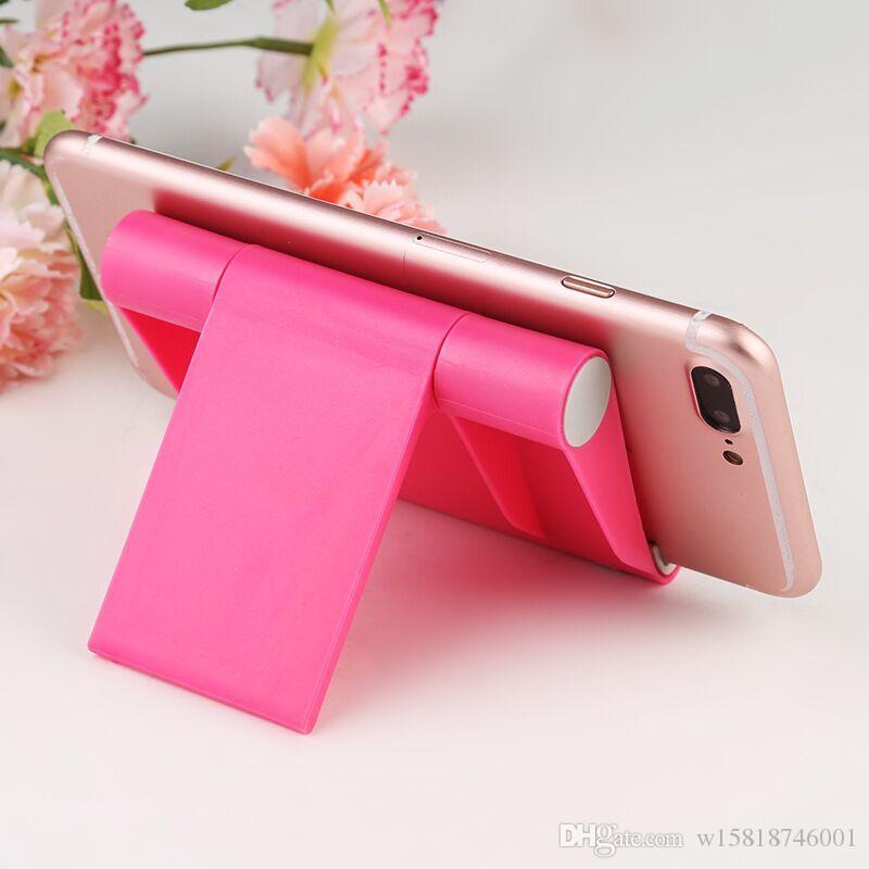 Universale tavolo pieghevole Cell Phone Support Supporto di plastica supporto da tavolo per il vostro Smartphone Tablet Support Phone Holder