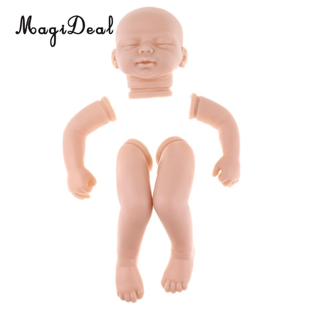 """Real Touch Silicone 22/"""" Reborn Doll Kits Baby Doll DIY Blank Head Limb Mold"""