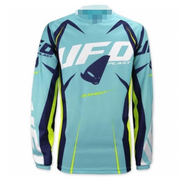 2020 in discesa vestito vestito mountain UFO Bicicletta camicia da uomo estate a maniche lunghe off-road in poliestere moto tuta ad asciugatura rapida