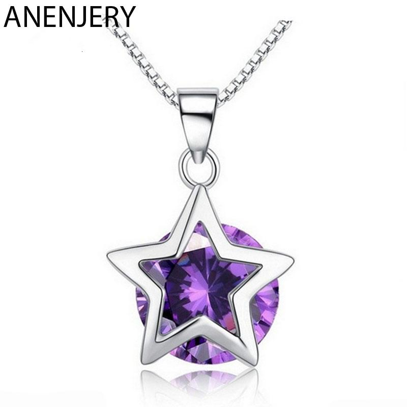 purple star pendant necklace