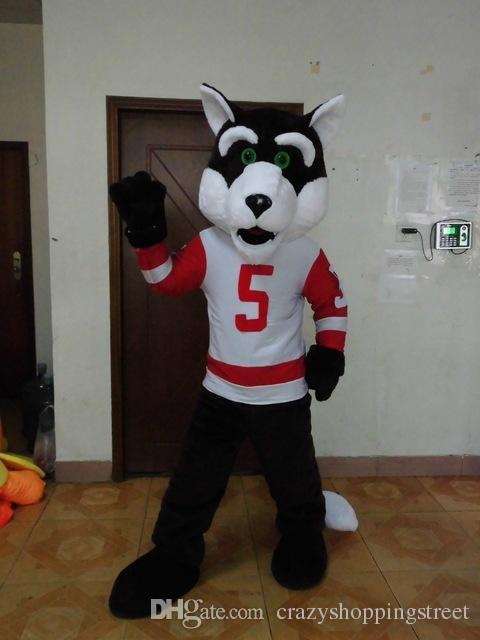 Halloween Sprot Grey Wolf Dog Mascot Costume High Quality Husky Animal Cartoon Animal character Christmas Carnival Costumes Paty Fancy Dress