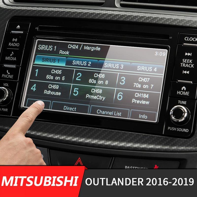 Araç Navigasyon GPS Ekran Cam Çelik Koruyucu Film İçin Mitsubishi Outlander 2016 2017 2018 201 Kontrol LCD Ekran Sticker