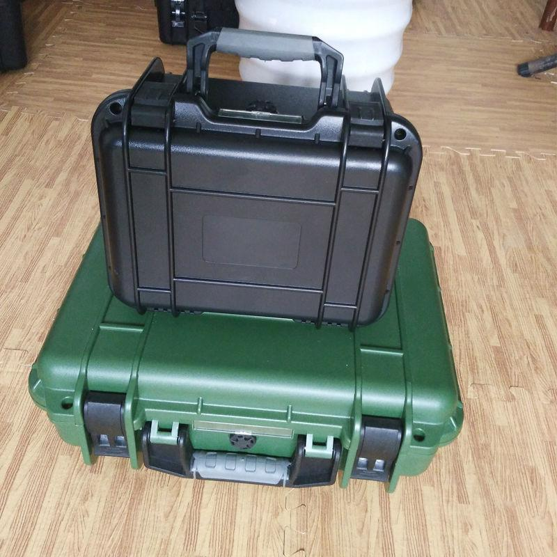 outdoor plastic suitcase with foam waterproof shockproof tool case