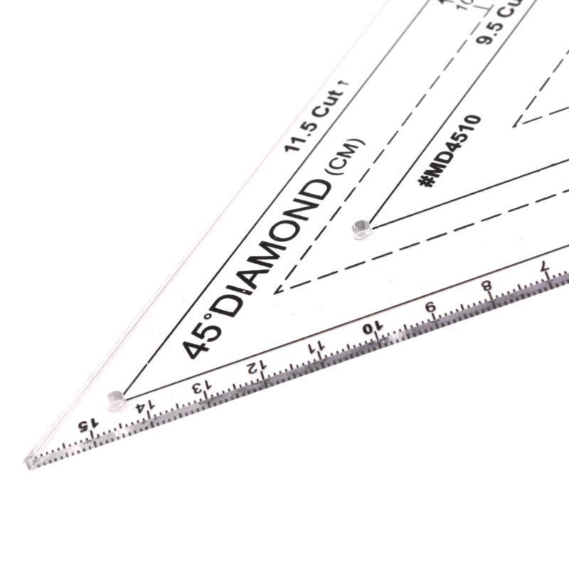 Hot Sewing scale Cutting Craft Scale Rule Drawing Tools Ruler Acrylic Patchwork Craft Quilting Ruler Cutting Rulers DIY Sewing T